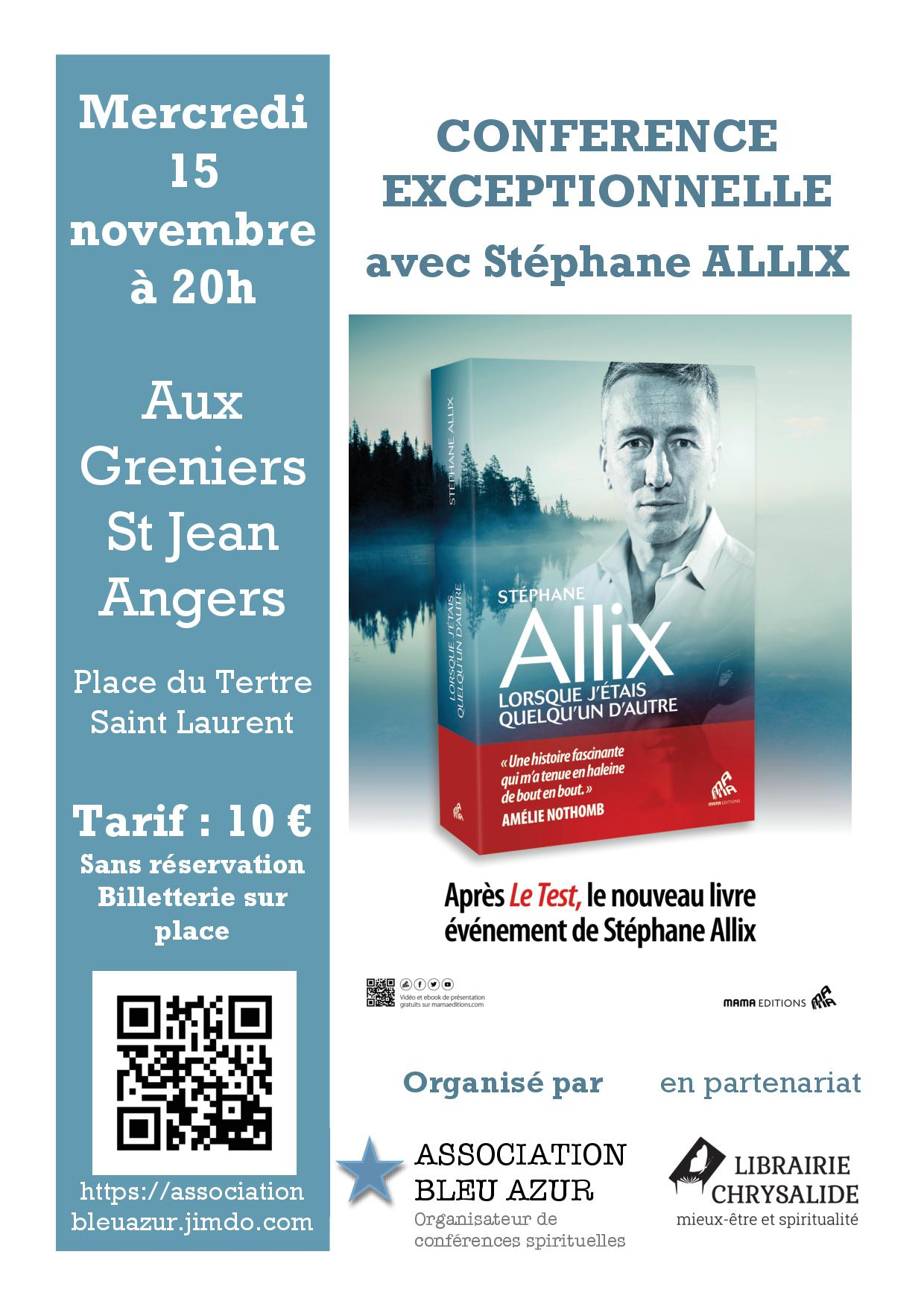 CONFERENCE EXCEPTIONNELLE STEPHANE ALLIX